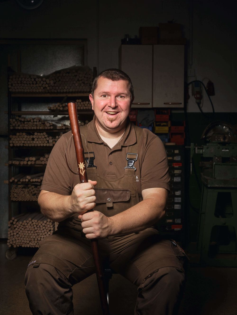Jens Siebold, Spezialist für Griffherstellung