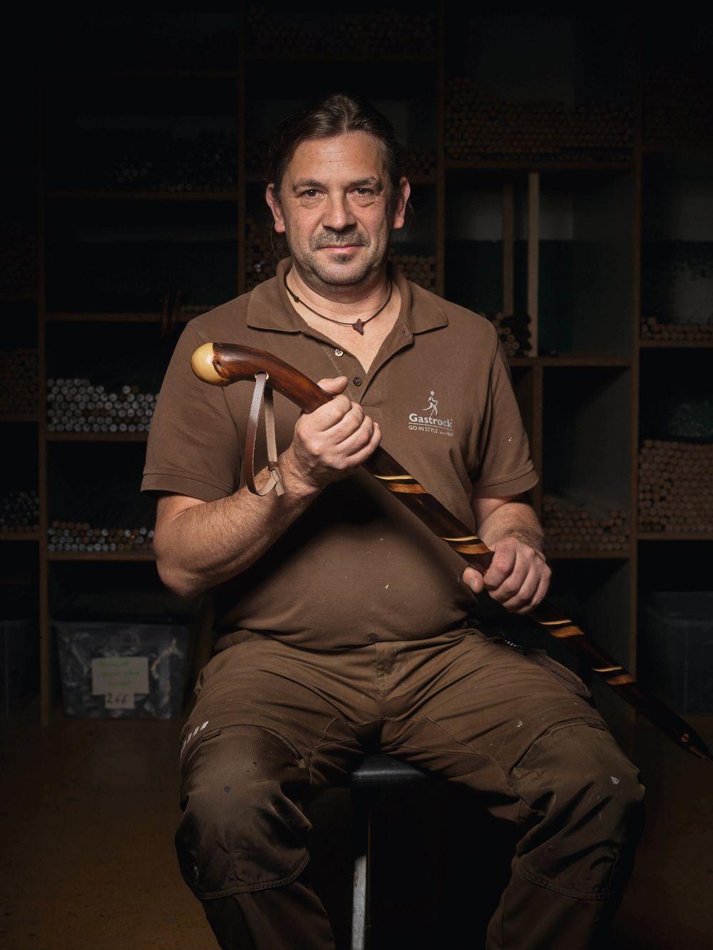 Ludger Klingebiel, Facharbeiter für Metallstockverarbeitung