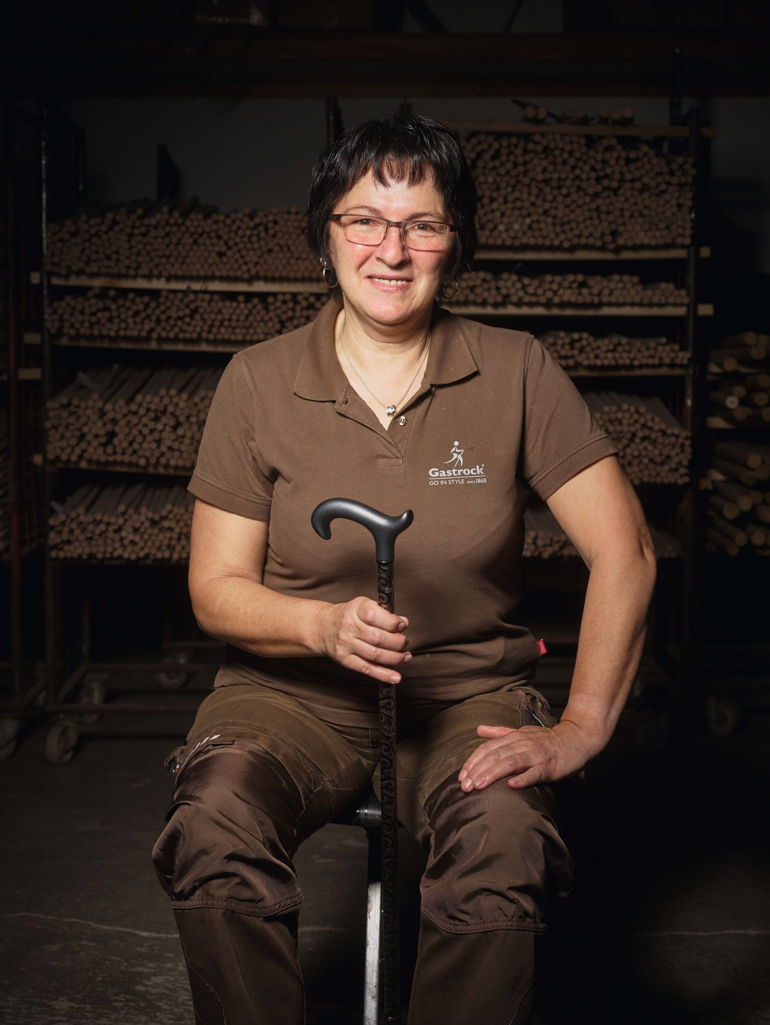 Petra Eib, Facharbeiterin für Stockverarbeitung