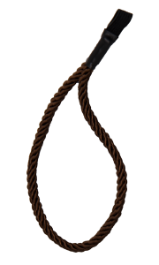 KORDEL-STOCKSCHLAUFE braun